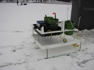 25 best images about ice fishing ideas on pinterest ice for Ice fishing sled ideas