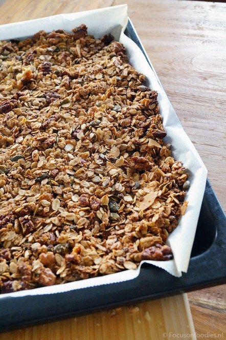 glutenvrije en suikervrije granola