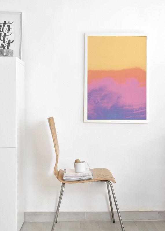 Abstract Watercolor Print Pastel Abstract Art Prints Bright