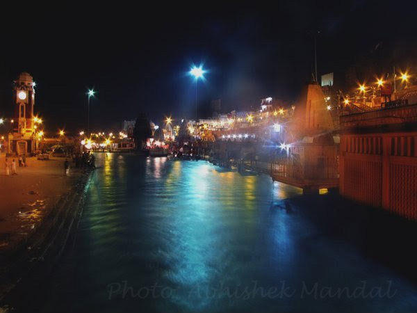 Har ki pauri at night,haridwar