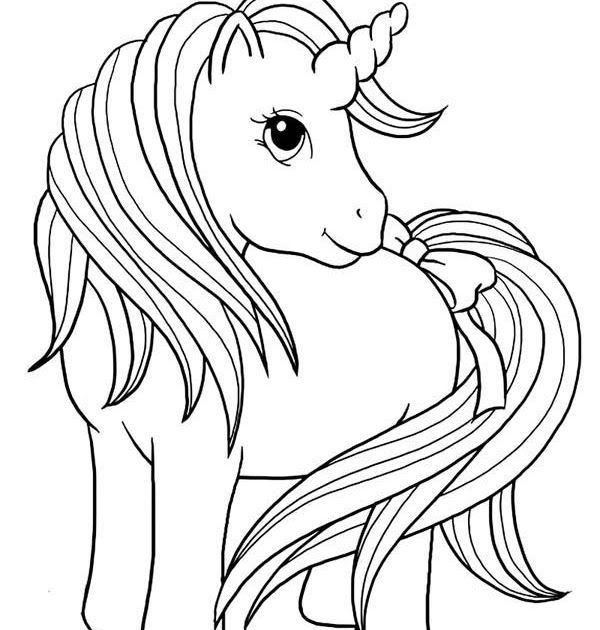Unicorn A Really Cute Girl Unicorn Coloring Page My Horse Coloring Pages Animal Coloring Pages Cute Coloring Pages