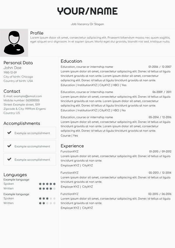 Las 25+ mejores ideas sobre Create a resume online en Pinterest - different types of resumes