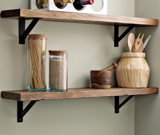 Timber Kitchen Shelves: 19 Best Interior Design