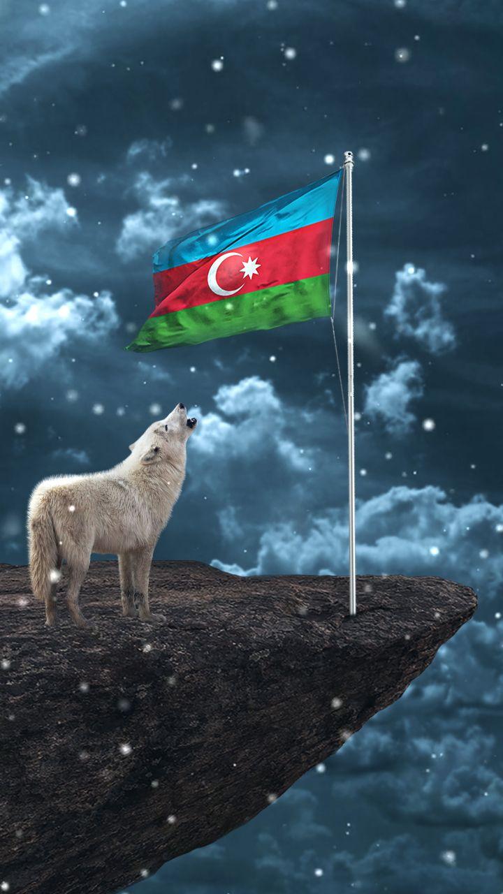 4k Hd Azərbaycan Bayragi Və Bozqurd Divar Kagizi Azərbaycan Bayragi Wallpaper Azerbaijan Flag Space Iphone Wallpaper Galaxy Wallpaper