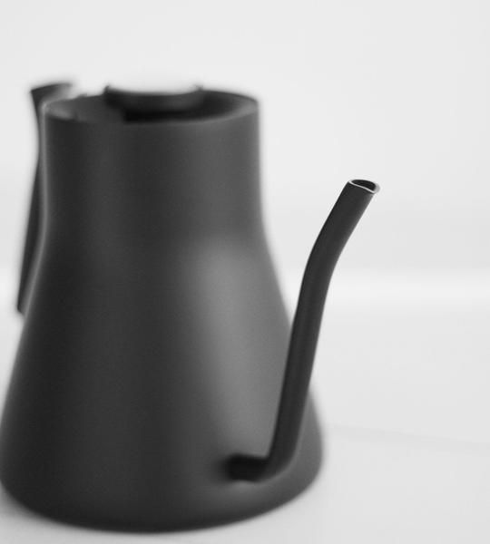 The Stagg Pour-Over Kettle combines functionality and design to take coffee brewing to the next level. The precision pour spout and counter-balanced handle allo