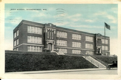 Oconomowoc WI this WAS THE High School then the middle school and now they have been turned into apartments!!