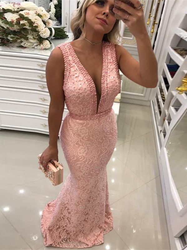 a29cd06aa4 Two Piece Mermaid Scoop Champagne Stretch Satin Prom Dress with ...