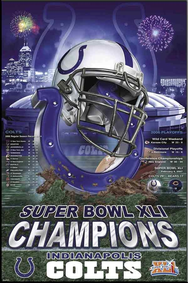 Image detail for -Indianapolis Colts Super Bowl XLI Champions! Poster