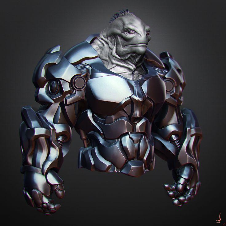 Alien 32 armor sketch 4 by perana.deviantart.com on @deviantART
