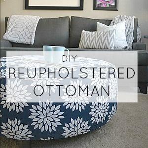 SIDEBAR- diy reupholstered ottoman