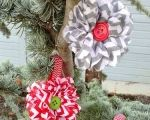 Chevron Flower Christmas Ornament