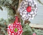 Chevron Flower Christmas Ornament