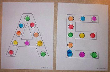 alphabet do-a-dot pages you can download: Kindergarten, Free Printable, Do A Dot
