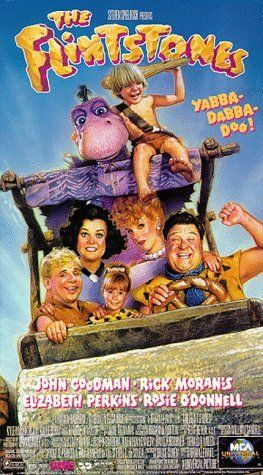 The Flintstones (1994)  Love these cartoon remake movies,  Popeye and scoobey were even better  tried to Plan a retro party for my  kids but they show no excitement.