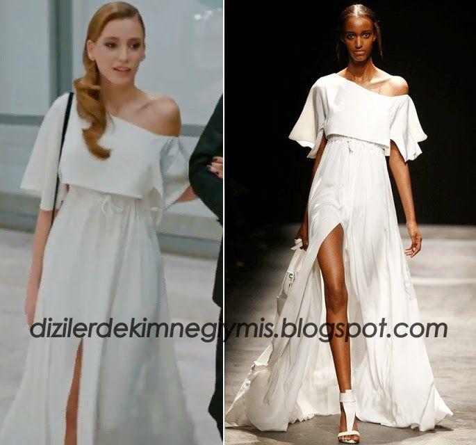 Serenay Sarıkaya'nın (50.Bölüm) Medcezir'de Giydiği Beyaz Elbise - Meltem Özbek