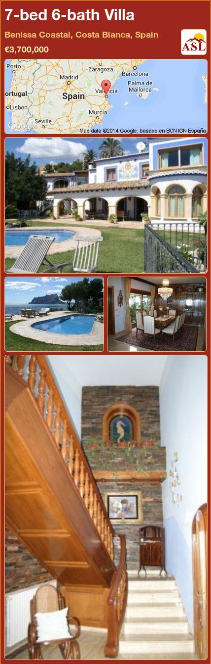 7-bed 6-bath Villa in Benissa Coastal, Costa Blanca, Spain ►€3,700,000 #PropertyForSaleInSpain