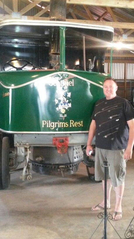 Original steam engine at Pilgrims Rest
