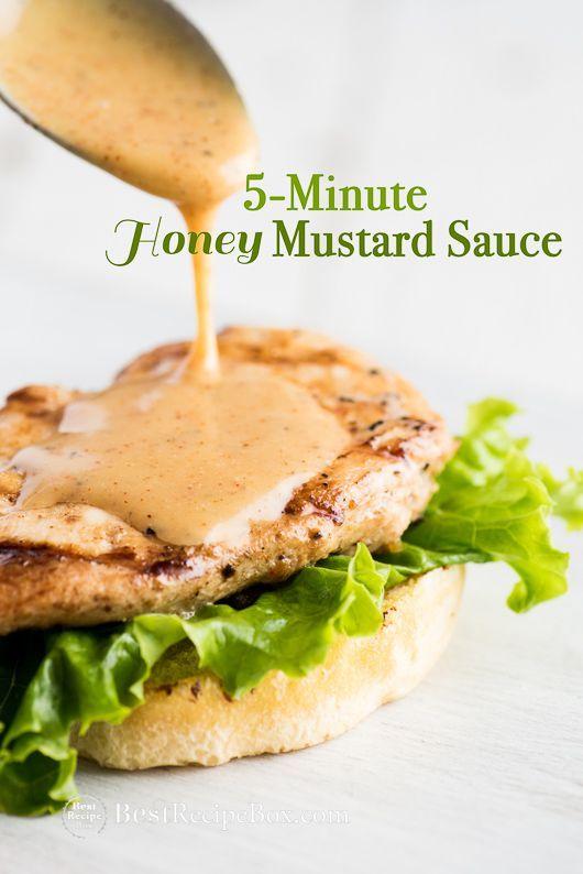 Easy Honey Mustard Sauce Recipe | @bestrecipebox