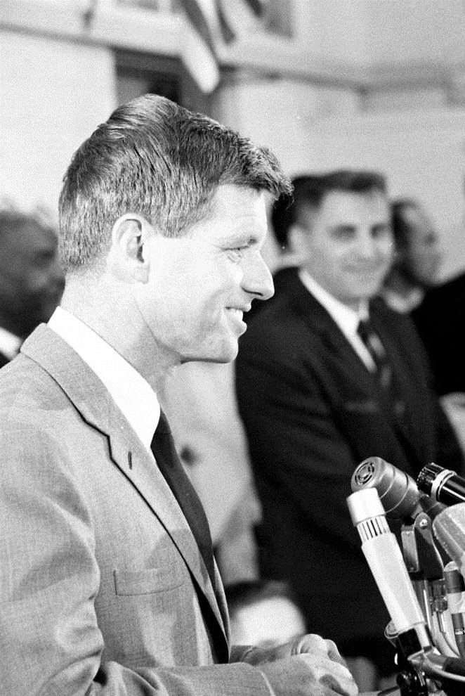 """United States Attorney General Mr~~Robert Francis Kennedy (November 20, 1925 – June 6, 1968), commonly known as """"Bobby"""" or by his initials RFK, was an American politician from Massachusetts. He served as a Senator for New York from 1965 until his assassination in 1968. He was previously the 64th U.S. Attorney General from 1961 to 1964, serving under his older brother, President John F. Kennedy. ❤❁❤❁❤❁❤❁❤❁❤ http://en.wikipedia.org/wiki/Robert_F._Kennedy"""