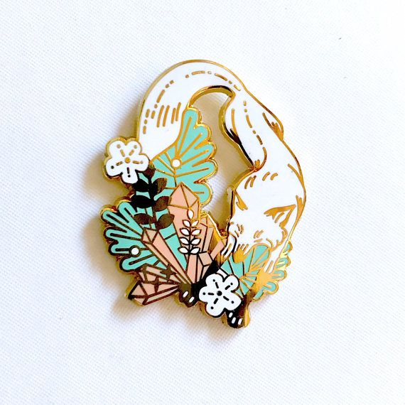 Fox Wonderland Enamel Pin DAY / Hat Pin / Lapel Pin