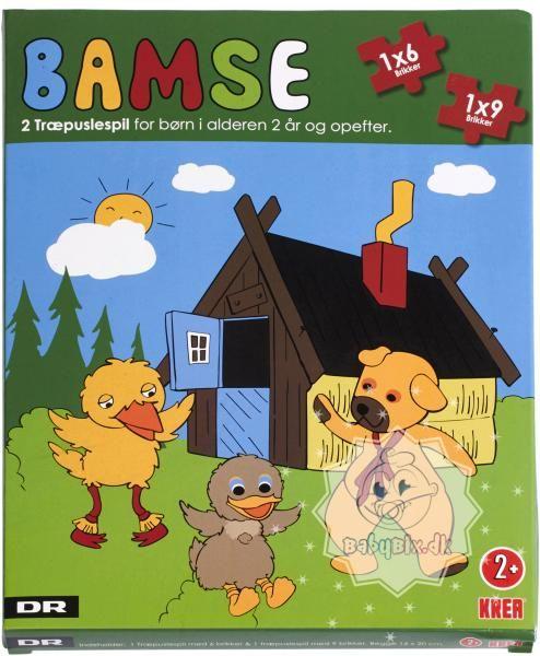 Træpuslespil med Bamses Billedbog