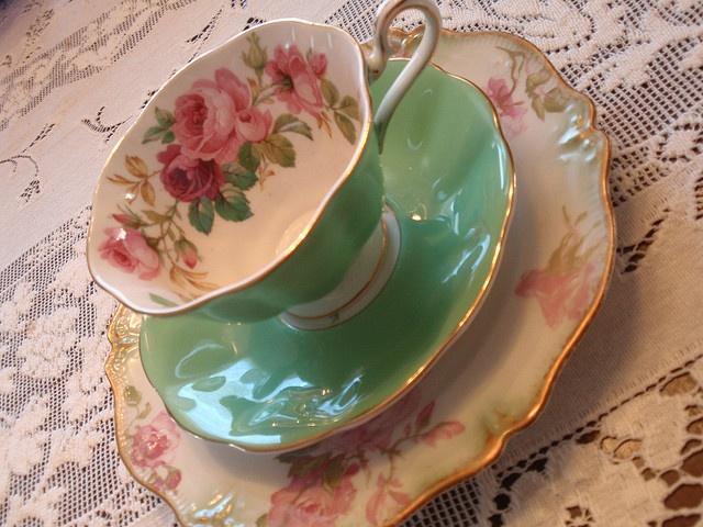 Royal Albert teacup in the Princess Anne rose patter