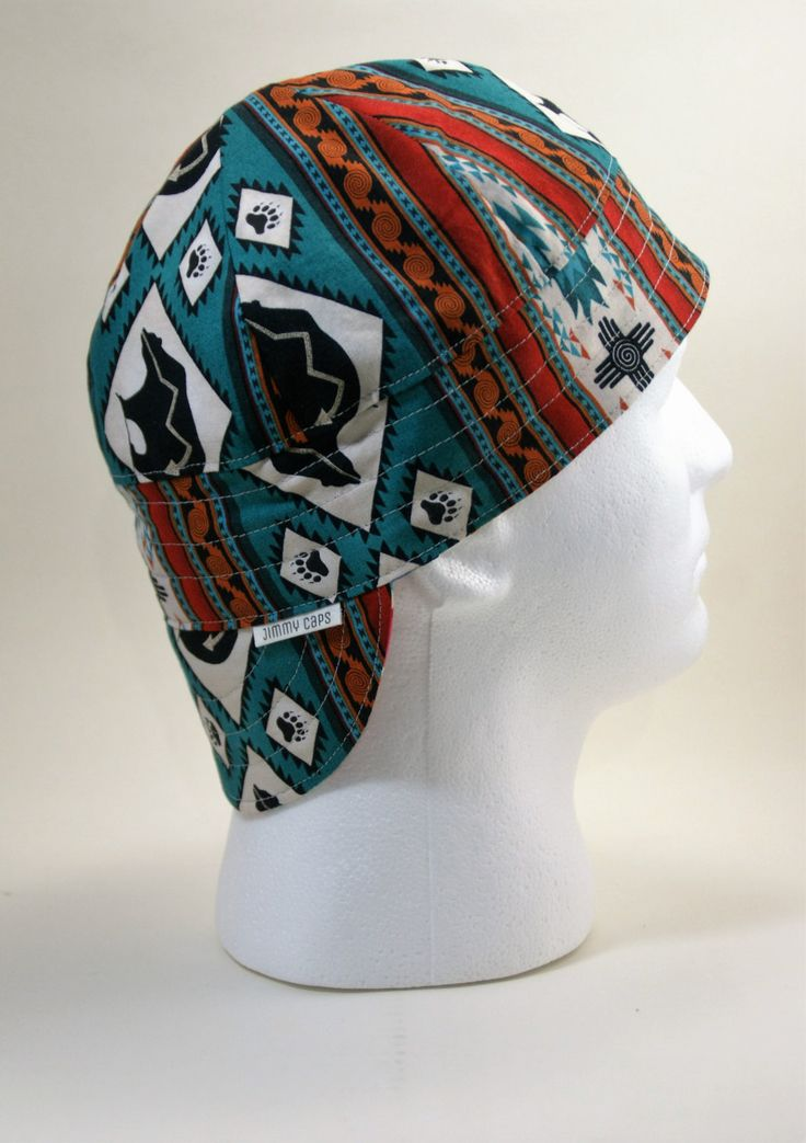 Tribal Bear Custom Welding Hat, Fitters Cap by JimmyCapsWeldingHats on Etsy