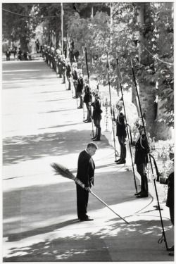 """ Elliott Erwitt :: Inspecting Guards, Teheran , 1967 /"
