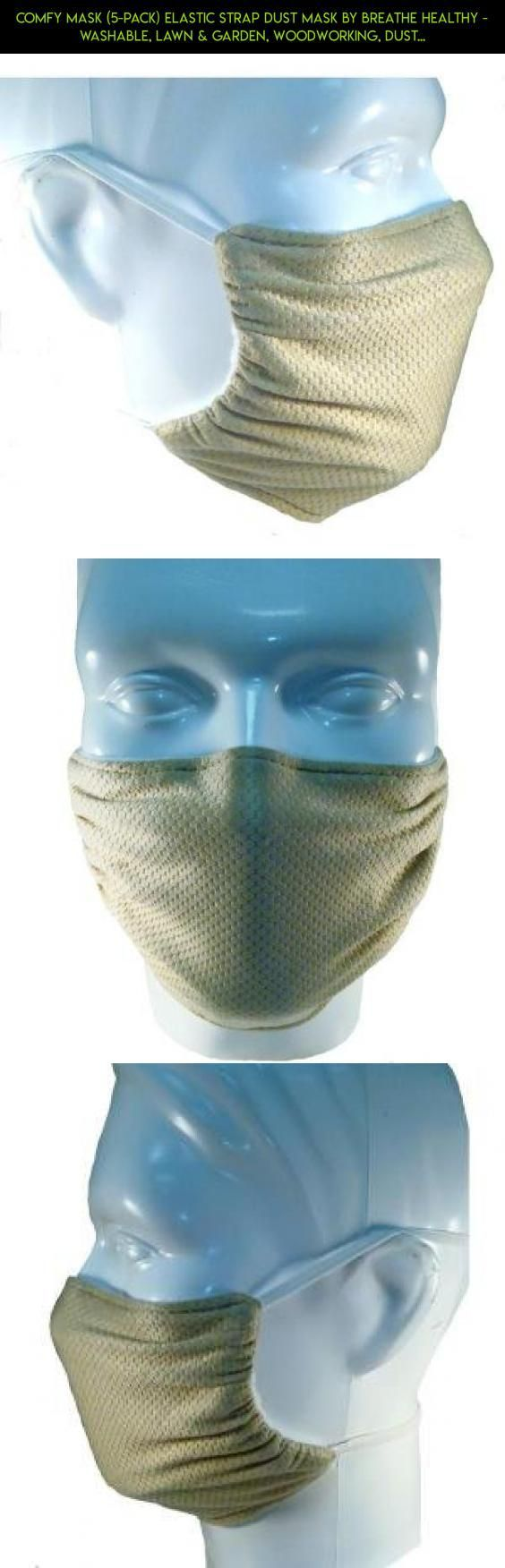 Comfy Mask (5-Pack) Elastic Strap Dust Mask By Breathe Healthy - Washable, Lawn & Garden, Woodworking, Dust, Drywall & Sanding; Honeycomb Beige #tech #kit #shopping #mask #gardening #camera #plans #parts #gadgets #products #fpv #drone #racing #technology
