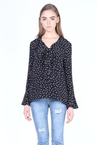 Merry Go Round   Spotty Frilly Blouse