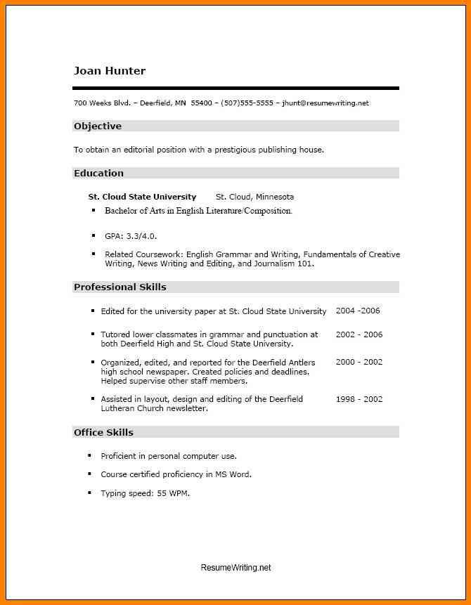 7 best Basic Resume Examples images on Pinterest Basic resume - resumes for highschool students