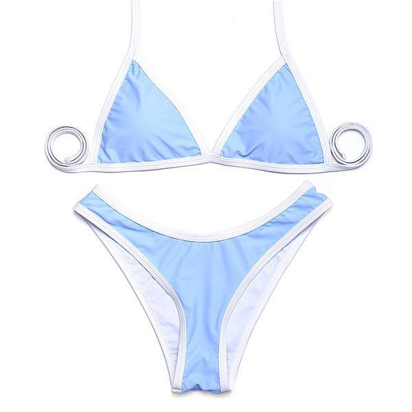 high cut bikinis New arrival sexy women bikini swimwear solid beachwear bikini set