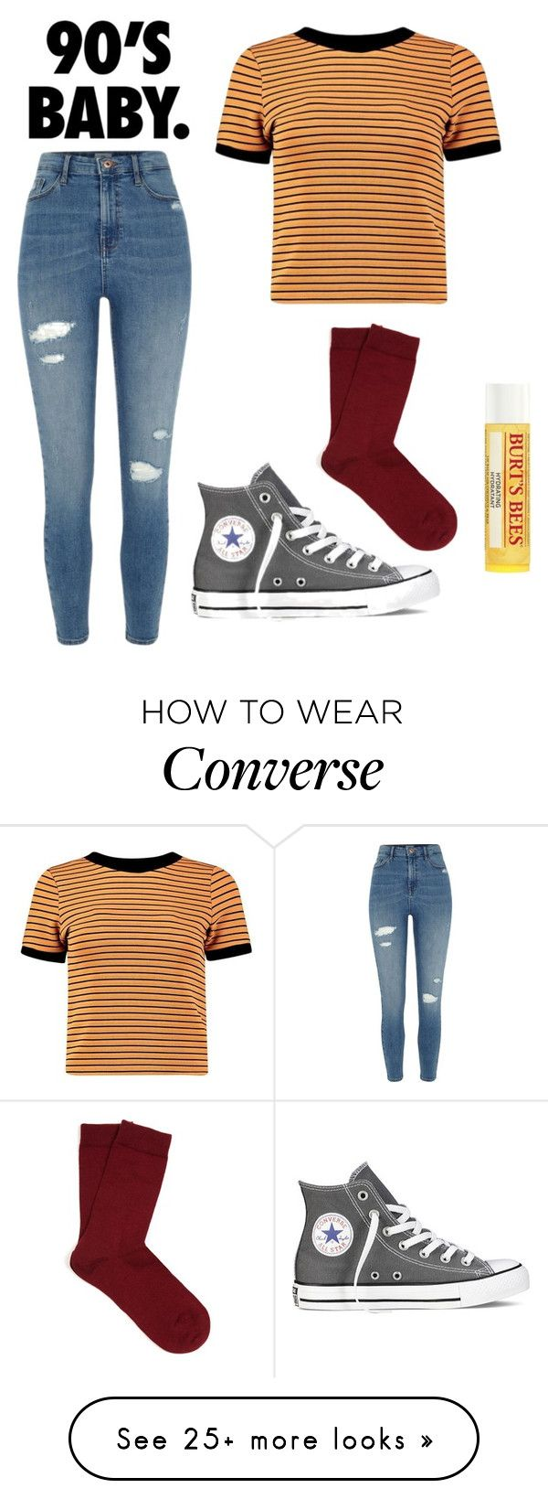 """""""Music /RTD/"""" by imveryconfused on Polyvore featuring River Island, Boohoo, Converse, Falke and Burt's Bees"""