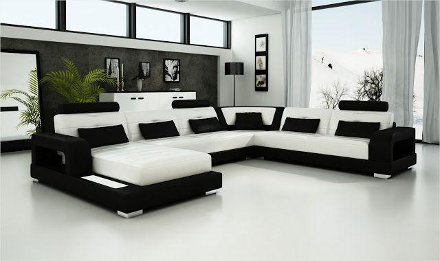 estilo turco grande muebles sofá blanco y negro | SALONES ...