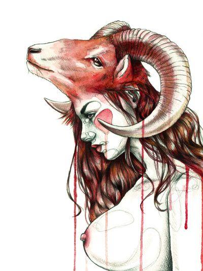 """Aries"" Art Print by Mia Desu | Society6"