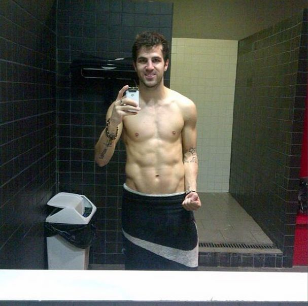 And all of his bathroom selfie, towel-wearing, flexing steaminess.