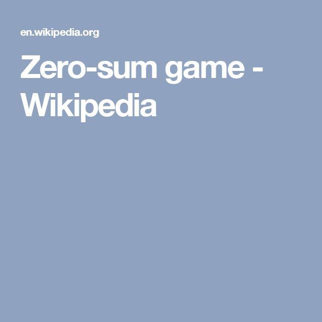 Zero-sum game - Wikipedia