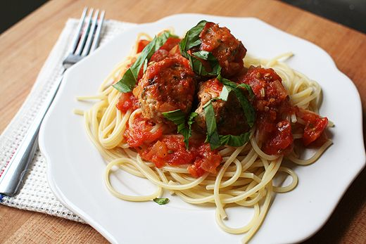 Combo these homemade turkey meatballs with the homemade vodka sauce, and welcome to heaven!!