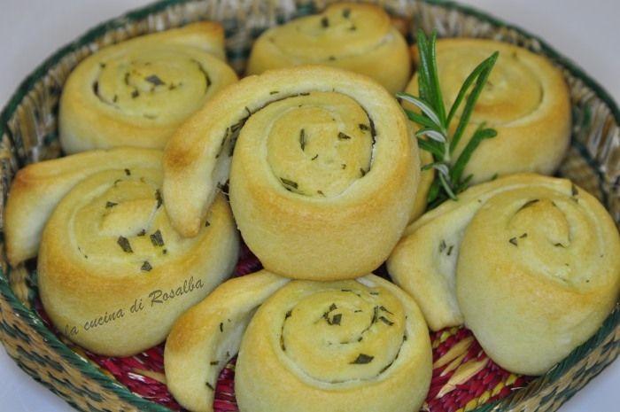 girelle di pane al rosmarino | ricetta la cucin di rosalba