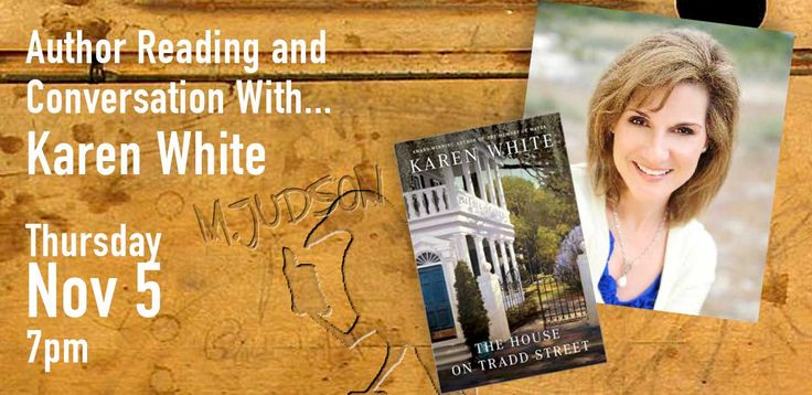 Karen White at M. Judson Booksellers — M.Judson Books
