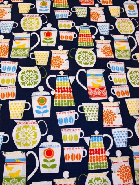 """Perfect Material for this bank holiday put the Kettle on & relax......this Micheal Miller fabric """"put a lid on it"""" its perfect fabric for a table runner, coasters or an Apron. If you would like to order this we can accept payment by Paypal. Enjoy your bank holiday weekend. Check us out on Facebook or on our website www.limerickquiltcentre.ie"""