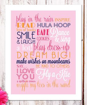 Another great find on #zulily! Little Girl Rules Wall Art by BirdRow #zulilyfinds