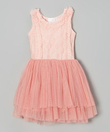 Loving this Pink Dot Ruffle Chiffon Dress - Toddler & Girls on #zulily! #zulilyfinds