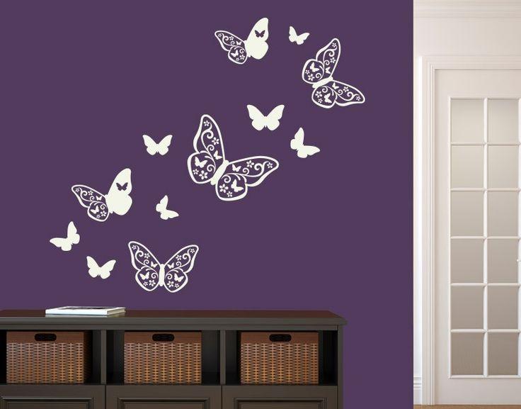 Vintage Wandtattoo Schmetterling Deko