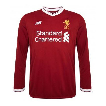 Liverpool 2017 18 Home Long Sleeve Soccer Jersey Shirt Liverpool 2017 18  Home cheap Long Sleeve Soccer Jersey Shirt football kit freeshipping 58fa5cdc0