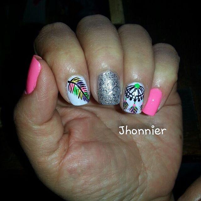 Uas Decoradas Con Atrapasueos Uas T Nails Nail Art