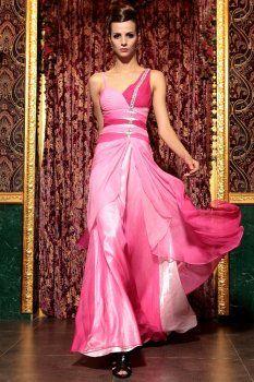 expédition de baisse de courroie de spaghetti rose robes de demoiselle d'honneur de bandage