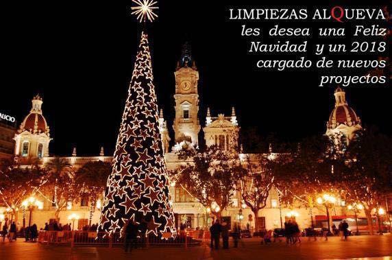 LIMPIEZAS ALQUEVA les desea una Feliz Navidad y un 2018 cargado de nuevos proyectos.  ALQUEVA - LIMPIEZA PROFESIONAL E INDUSTRIAL www.alquevalimpieza.com facebook.com/alquevalimpieza Calle Artesanía, 25, Nave 28, P.I. PISA, Mairena del Aljarafe, Sevilla Tfnos. 954 047 808 - 619 007 510