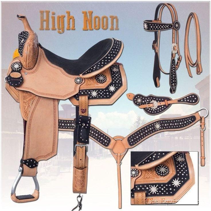 "13 Inch Silver Royal Barrel Saddle Pkg ""High Noon"" Black Suede #SilverRoyal"