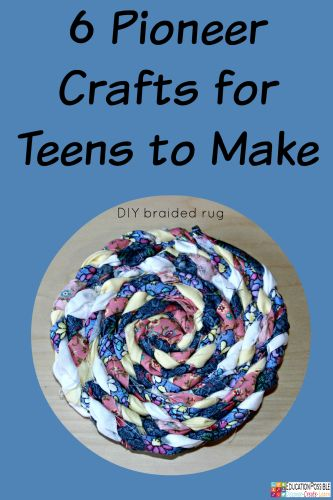 6 Pioneer Crafts for Teens to Make @Education Possible For many homeschooling families, crafts are a valuable part of history lessons. Hands-on activities are a wonderful way to bring history to life for kids because historical crafts give them a broader sense of how life was lived years ago.